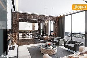 طراحی داخلی 2 آپارتمان لوکس و لاکچری