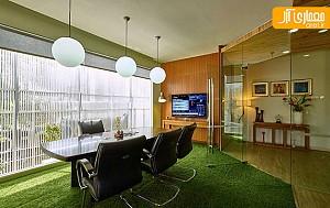 طراحی داخلی متفاوت دفتر کار