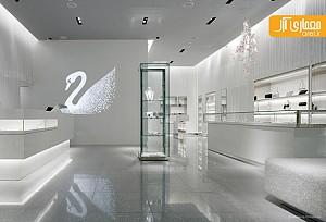 طراحی داخلی فروشگاه برند جواهر swarovski - توکیو
