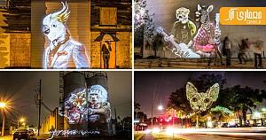 نورپردازی شهری: حیوانات در قالب fashion