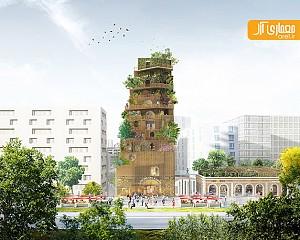 برج باغی برای پاریس، طرح ارائه شده توسط گروه معماری DGT