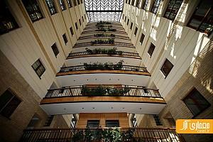 معماری ساختمان مسکونی بوستان نهم - برج باغی در پاسداران