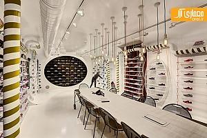 طراحی داخلی شعبه ی استانبول فروشگاه کفش اسکچرز
