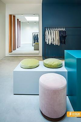 طراحی داخلی زیبای فروشگاه لباس