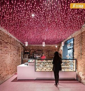 نوآوری در طراحی داخلی قنادی توسط ideo arquitectura