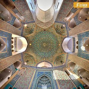قسمت دوم: هنر عکاسی و دیتیل های معماری ایرانی در سقف ها