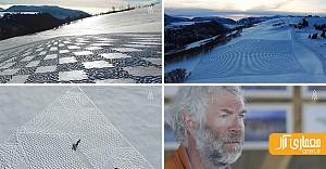 40 هزار قدم بر روی برف! داستان خلاقیت یک مرد + ویدیو