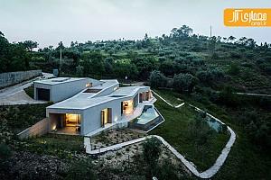 معماری ویلا و چشم انداز طبیعت کشور پرتغال