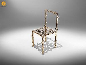 طراحی و ساخت صندلی با مکعب های برنز برای نیلوفر