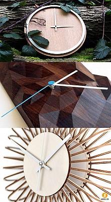 خلاقیت در طراحی ساعت با متریال چوب