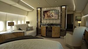 طراحی داخلی هواپیمای بوئینگ 8-747 با صرف هزینه ی 600 ملیون دلاری