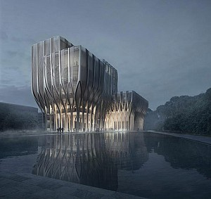 معماری جدید زاها حدید در کامبوج