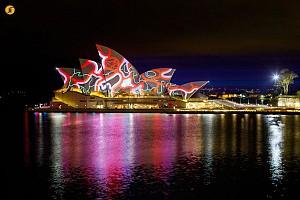 بزرگترین گالری هنر نورپردازی دنیا در سیدنی استرالیا