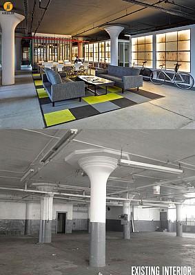 بازسازی و تغییر کاربری کارگاه به دفتر کار در بروکلین