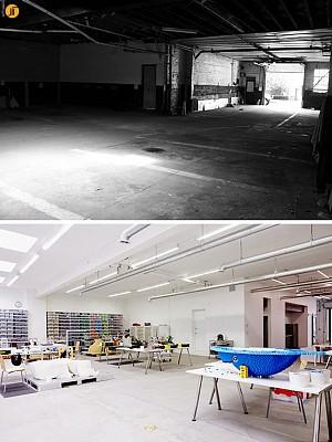 بازسازی و تغییر پارکینگ به استودیوی هنری (Art Studio)
