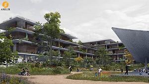 طراحی و معماری مجتمع مسکونی با تراس های سبز