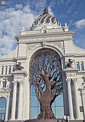 استفاده از المان درخت در ساختمان وزارت کشاورزی