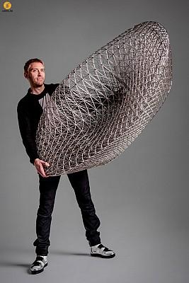 ساخت مبل با استفاده از چاپگر 3 بعدی، وزن: 2.5 کیلوگرم