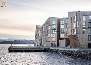 طراحی و معماری خانه های اسکله ای: کوهستانی از چوب