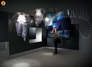 زاها حدید: طراحی لوستر ARIA