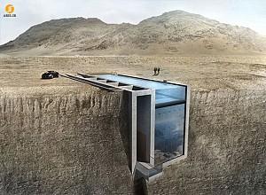 طراحی و معماری خانه ای در دل صخره ای رو به دریا