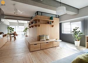دکوراسیون داخلی 2 آپارتمان کوچک به سبک مینیمال ژاپنی