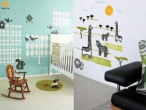 دکوراسیون داخلی اتاق کودک : 10 نمونه طراحی کاغذ دیواری زیبا