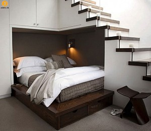 30 نمونه دکوراسیون داخلی منزل با اتاق خواب های کوچک و تخت های تاشو