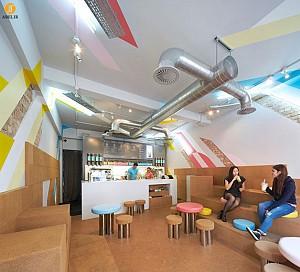 طراحی داخلی کافی شاپ Biju