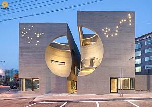 معماری و طراحی مرکز فرهنگی Two Moon