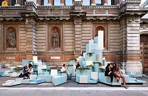 طراحی مبلمان شهری با  سرامیک
