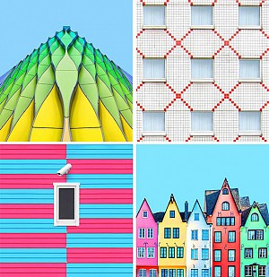 جادوی رنگ و نظم هندسی در دنیای معماری
