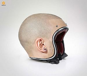 خلاقیت : کلاه های ایمنی به شکل سر انسان