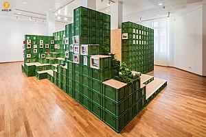 خلاقیت : طراحی غرفه با جعبه های سبزیجات