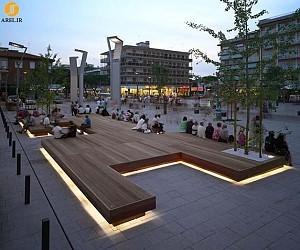 طراحی نیمکتی بسیار بزرگ در شهر