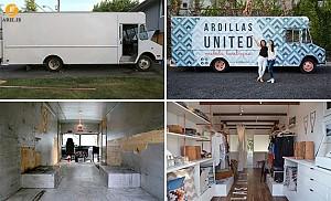 طراحی و دکوراسیون داخلی بوتیک در فضای داخل کامیون