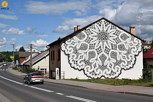 طراحی نمای ساختمان با نقاشی خیابانی