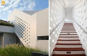 دکوراسیون داخلی جزئی منزل : طراحی پنجره برای راه پله