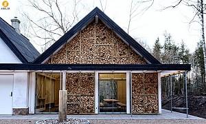 بازسازی دو خانه در جنگل های دانمارک