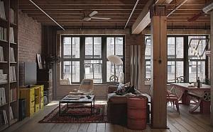 طراحی داخلی آپارتمان برای مردی مجرد
