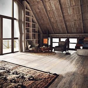 دکوراسیون داخلی سه خانه با سبک محلی (روستایی)