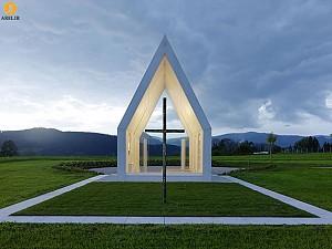 معماری و طراحی مینیمال کلیسای Maria Magdalena