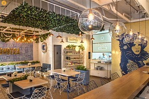 طراحی داخلی رستوران کلمبیایی la condesa