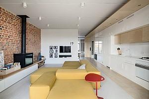 طراحی داخلی خانه برای زوجی جوان
