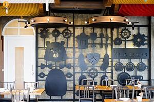 طراحی و دکوراسیون داخلی رستوران با نام ویلای خرس !