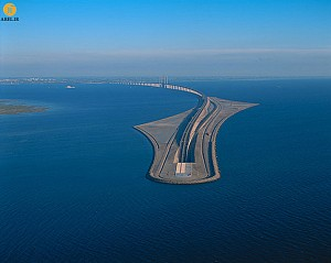 طراحی پل معلق کابلی بین دو کشور سوئد و دانمارک