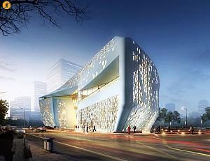 معماری اسلامی، منشأ الهام معماری موزه و مرکز نمایشگاهی Yinchuan