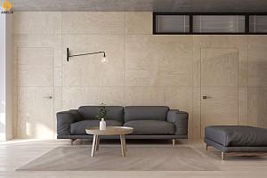 طراحی داخلی آپارتمانی مینیمال برای خانواده ای 4 نفره