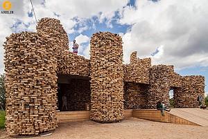 طراحی مجسمه شهری به سبک یک بنای معماری