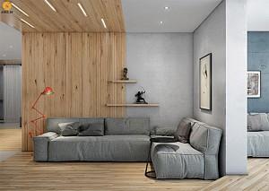 امروز در دکو بوم: طراحی داخلی دو آپارتمان با استفاده از پانل های چوبی